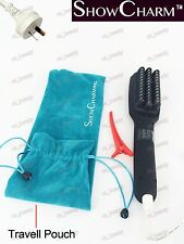 Genuine ShowCharm Hair Straightening Brush Ceramic Straightener Comb Ionic LED