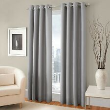 4PC GROMMET PANEL TEXTURE WINDOW CURTAINS FOAM LINED 99% BLACKOUT THERMAL K34