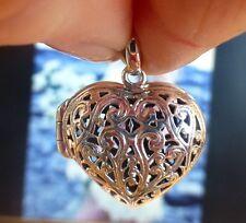 Beau pendentif coeur qui s'ouvre en ARGENT 925  Poinçon