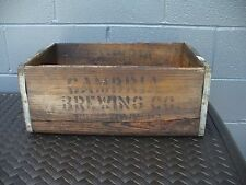 VINTAGE Wooden Cambria Brewing Co. Advertising Crate Box Johnstown Pa County