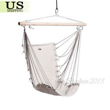 Hammock Hanging Chair Air Sky Swing Outdoor Indoor Garden Patio Porch Solid Wood