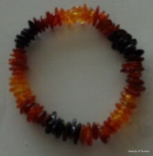 Stretch  multicolor rainbow  Baltic Amber Bracelet  #2