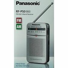 New Original Panasonic RF-P50 Am Fm - Pocket Radio Inbuilt Speaker - Silver