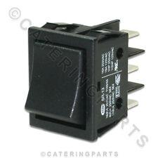 Lincat sw34 transición Rocker Switch 2 Polos 16a Negro 30mmx22mm Eco Hornos Freidores
