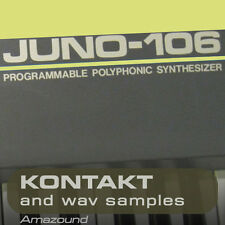 ROLAND JUNO-106  for KONTAKT .nki PATCHES & WAV SAMPLES - 24 BIT AMAZING QUALITY
