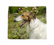 Borzoi Dog Microfibre Glasses Camera Lens Phone Screen CD Cleaning Cloth