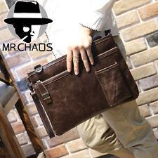 Men's Vintage Brown Leather Handbag Messenger Shoulder Business Briefcase Bags