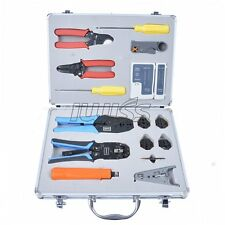Iwiss Network Installation Tool Kit -- Includes LAN Data Tester,  Crimper,Punch