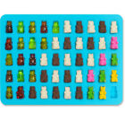 50 Chocolate Candy Gummy Bear Ice Silicone Maker Tray Mold Cavity