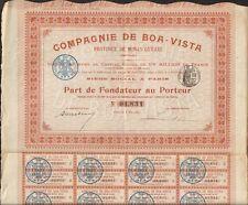 Cie de BOA-VISTA, ¨Province de MINAS GERAES (BRESIL) (H)