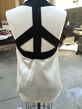Moschino Vintage Peace Sign Blouse Top Rare