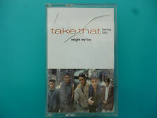 """TAKE THAT ( FEATURING LULU )  """" RELIGHT MY FIRE """"  CASSETTE SINGLE ( 2 TRACKS )"""