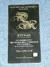 """DIANA ROSS Japan Only1992 Tall 3"""" CD Single THAT'S WHY I CALL YOU MY FRIEND"""