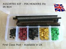 Pin Headers, Socket Connectors, Jumper Caps Assorted Kit. Arduino, Raspberry Pi