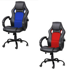 Ergonomic Racing Style Gaming Chair Recliner Executive Office Computer Blue