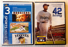 Hoosiers/Jackie Robinson Story/Pride of the Yankees  &  42 ~ 2 New DVD Lot