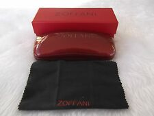 Used - Zoffani red glasses case, cleaning cloth & box - proceeds to charity