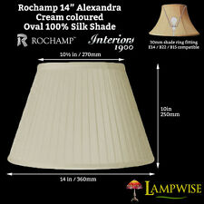 Interiors 1900 Rochamp Alexandra 14in Cream Oval Empire Pleat Silk Shade