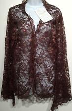 M by Marc Bouwer Brown Lace Jacket/Cardigan A70254 FREE U.S. SHIPPING - Sz M