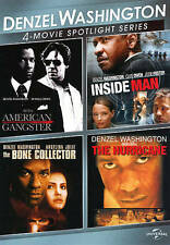 Denzel Washington 4-Movie Spotlight Series (DVD, 2013, 3-Discs) Ships FREE!
