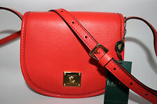 NWT RALPH LAUREN Punch 100% Leather WINCHESTER Simple Crossbody Bag