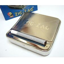 Zig Zag Automatic Rolling Machine Smoking Tobacco Case Tin Roller Cigarette Box