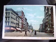 Antique POSTCARD Washington Street, Indianapolis, IN., C1904 By Detroit Photo Co