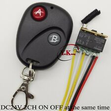 DC24V 2CH Micro Relay Remote Switch Mini Contact RF Wireless Relay DPDT Receiver