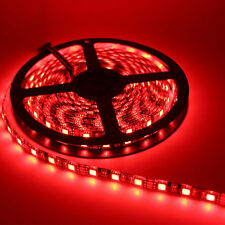24V 5M Bright Red Colour SMD5050 300LED Under Cabinet Strip Tape Light Black PCB