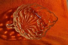 Vintage Small Clear Glass Anchor Hocking Bubble Grape Leaf Relish Dishes