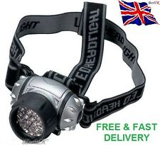 12 LED ULTRA BRIGHT HEAD TORCH LIGHT LAMP CAMPING HIKING FISHING LIGHTING CAR
