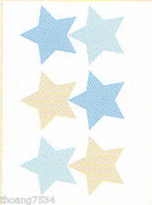 Wendy Bellissimo Baby Blue Camo Star Wall Sticker Decal