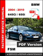 BMW 2004 - 2010 E63 E64 645Ci 650i SERVICE REPAIR FSM MANUAL + WIRING DIAGRAM