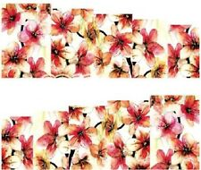 Nail Art Water Decals Stickers Transfers Flowers (A-62)