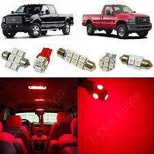 8x Red LED lights interior package kit for 1999-2010 Ford Super Duty FS1R