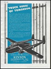 1944 WW II FAIRCHILD C-82 Packet Cargo Transport Army Air Foces Aircraft WWII AD