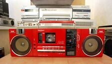 Vintage SHARP QT 37ZR BOOMBOX Stereo Radio Cassette Player Recorder