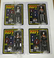 "KISS LOVE GUN 8"" ACTION FIGURES SET OF 4 RETRO MEGO"