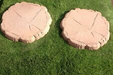 Log Effect Stepping Stone 450x450x38 In Light Brown £1.95 or 60p Extra In Colour