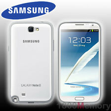 GENUINE Samsung Galaxy Note 2 II Protective Cover+ White Case GT-N7100 GT-N7105