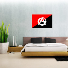 "Anarchist Movement Anarchy Flag Wall Decal Large Vinyl Sticker 25"" x 17"""