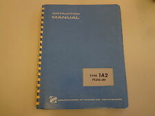 Tektronix Type 1A2 Dual Trace Plug In Unit Instruction Manual Vintage