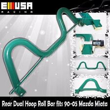 Rear Dual Hoop Roll Bar fits1990-2005 Mazda Miata GREEN Sport Chassis Stabilized