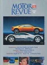 1992 MOTOR REVUE JAHRBUCH YEARBOOK FERRARI F40 BUGATTI EB 110 LAMBORGHINI DIABLO