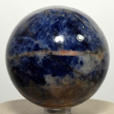 "2.3"" Rich Blue Sodalite Sphere Natural Quartz Mineral Crystal Stone Ball Africa"