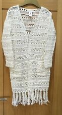 Ladies East Hand Crochet Long Cardigan Size Small