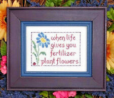 PLANT FLOWERS ~ My Big Toe ~ Counted Cross Stitch CHART Pattern NEW