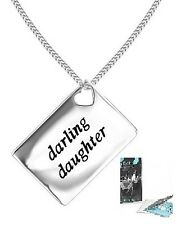 "Lily & Lotty Love Letters  ""Darling Daughter"" Sterling Silver & Diamond Necklace"