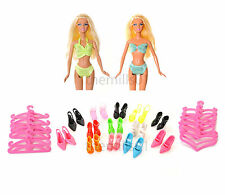 8 pieces Poupée Barbie costume natation de bikini swimwear vêtements bundle Lot B1