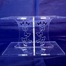 Clear Acrylic Square Butterfly Wedding & Party Cake Stand 15cm & 19cm Bases